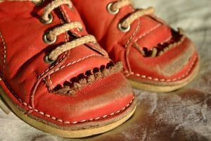 red children's shoes