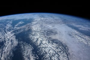 Clouds over earth space view