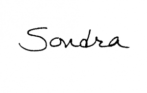 Sondra's signature