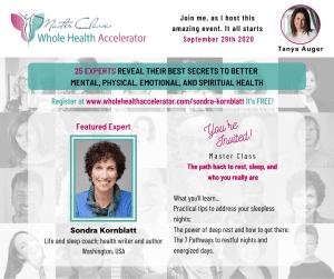 Invitation to Sondra talk on Whole Health Accelerator